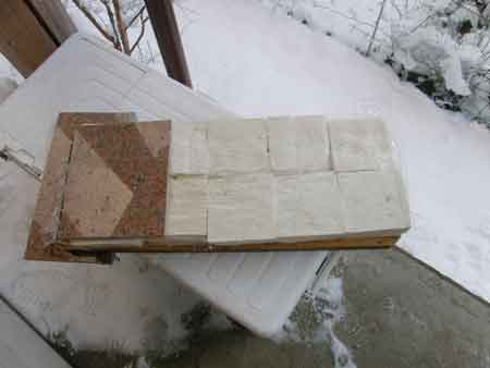凍み豆腐作り