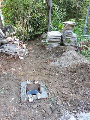 排水桝完了&埋め戻し