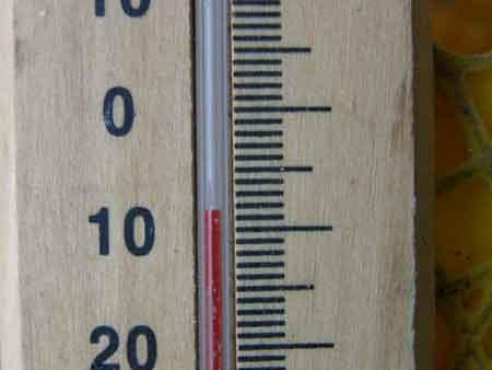 16日朝の気温