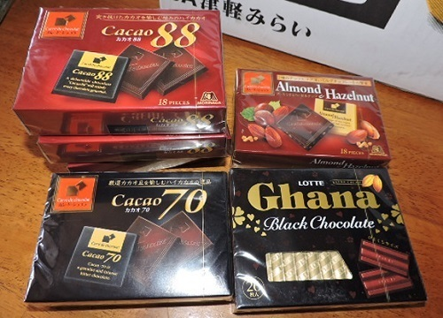チョコレート類