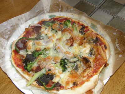 今年最初のピザ
