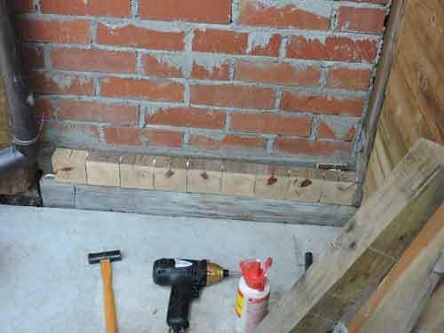 木ブロックを貼る1