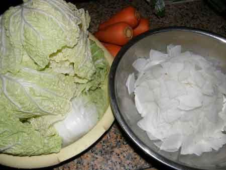 白菜、大根、にんじん
