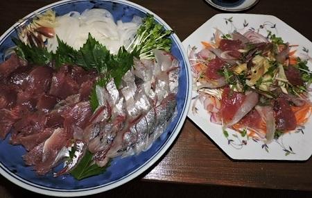 刺身とカルパッチョ