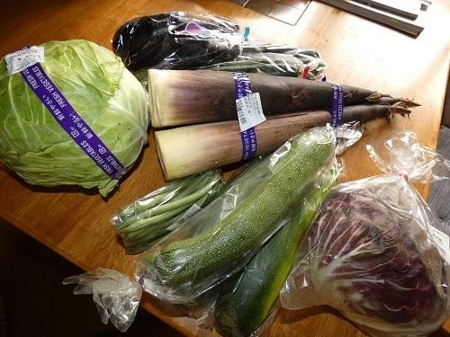 野菜の買い出し