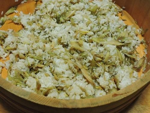 ミョウガご飯を作る2