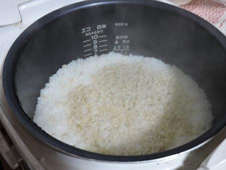 押し麦入りご飯