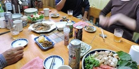 知人と夕食