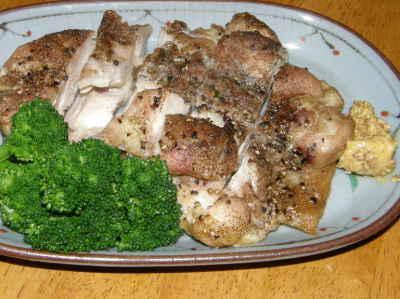 鶏モモの胡椒焼き