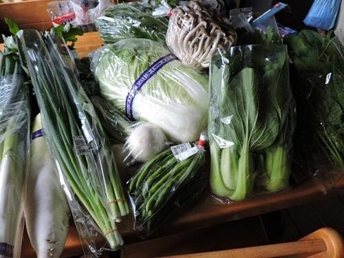 買い入れてきた野菜類