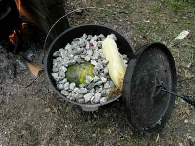 石焼き芋の鍋