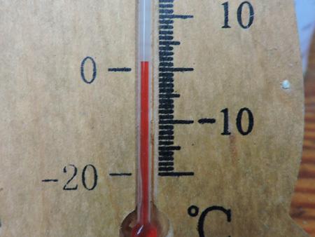 11月1日、今朝の気温は