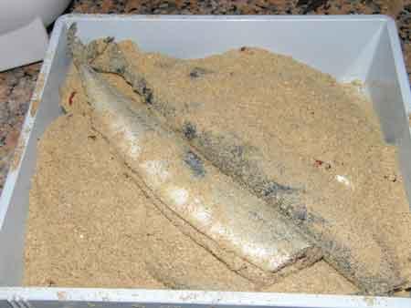 糠秋刀魚を作る