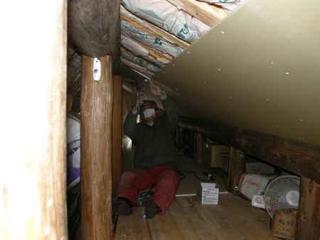 小屋裏天井貼り(3)